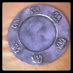Other - Metal elephant decorative plate, heavy used